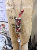 Gorgeous soldered necklace in the Tim Holtz booth. Photo by Scarlet Calliope