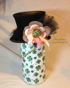 Lovebug Creations Irish Kiss Top Hat by Christine Barker 1