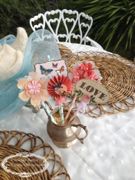 Garden Party Straws 1 for Lovebug Creations by Christine Barker