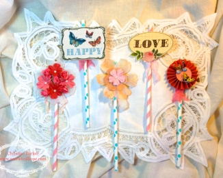 Garden Party Straws 2 for Lovebug Creations by Christine Barker