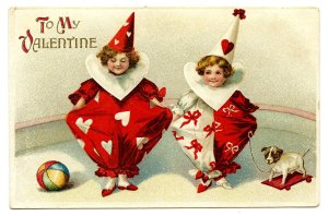 Graphics Fairy: valentine-clowns-graphicsfairy005b