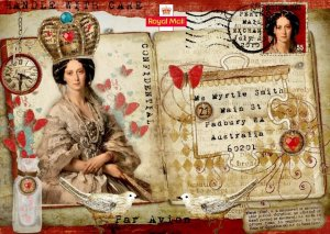 Invitation for Mail Art Show on Scarlet Calliope Blog