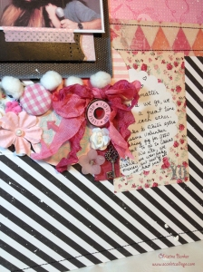 Glamour In Pink scrapbook layout by Christine Barker