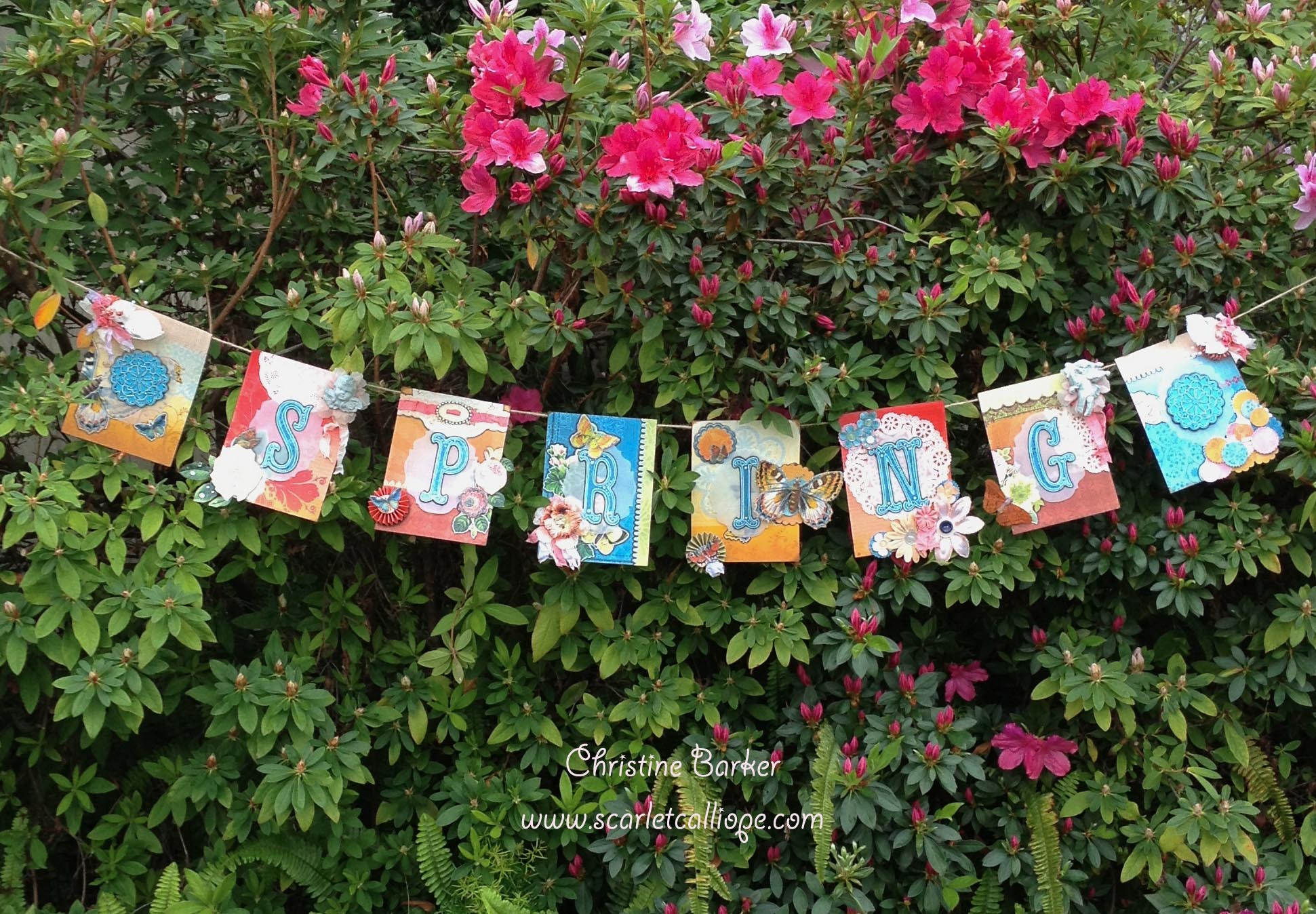 Scarlet Calliope Spring Banner made by Christine Barker