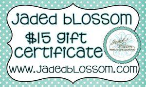 Jaded Blossom gift certificate