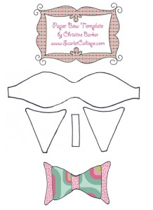Scarlet Calliope Paper Bow Template 2