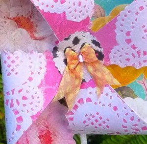 Scarlet Calliope Pinwheel macro 3