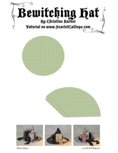 Scarlet Calliope Witches Hat Template
