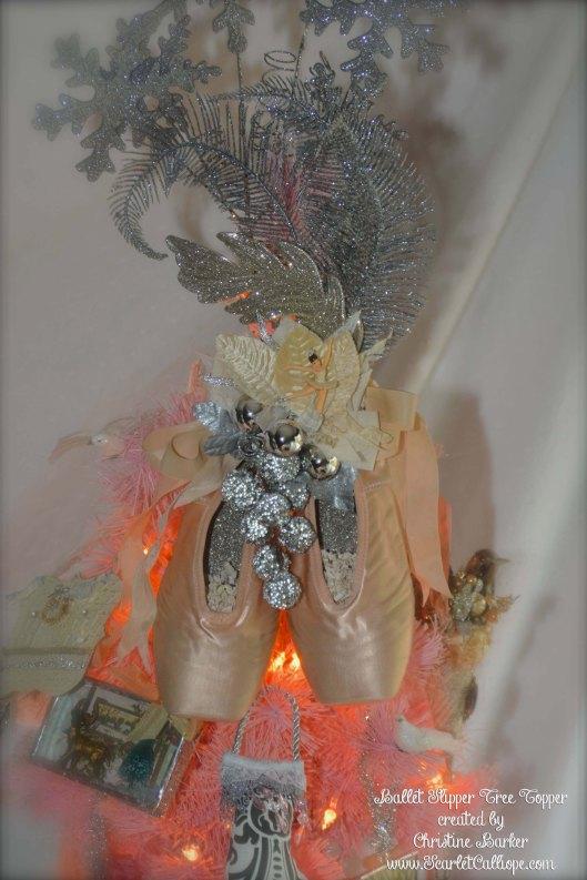 ScarletCalliope Ballet Slipper Tree Topper