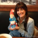 Julie and her new gnome friend
