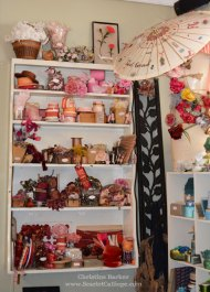 Vintage ribbons in pinks and reds